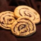 Pinwheel Cookies II - Peanut butter pinwheel cookies.