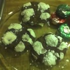 Peppermint Patty Surprise - A chocolaty, minty cookie dough with a surprise peppermint patty inside!