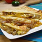 Caramelized Onion and Jalapeno Quesadillas - Caramelized onion and jalapeno quesadillas are a quick and easy appetizer or meal for vegetarians and non-vegetarians alike.