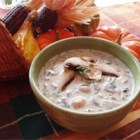 Creamy Mushroom Soup - This fresh and creamy soup is easy to make, and filled with hearty chopped mushrooms.