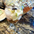 Rachel's Rose Sangria - Dress up traditional sangria by adding green and red grapes, plus diced apple, lemon and lime to a sparkling pink mix of rum, brandy, white Zinfandel wine, and lemon-lime flavored soda.
