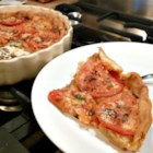 Tangy Tomato Tart (Pie) - Celebrate garden-ripe tomatoes with a French tomato tart flavored with herbs and Dijon mustard. Serve warm or cold.