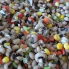 Black Eyed Susan Salad - Black eyed peas with corn and other veggies with a sweet and sour dressing that keeps getting better the longer it sits.