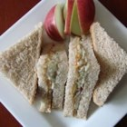 Peanut Butter and Apple Sandwich - My kids love to spread peanut butter on their apples, so one day I thought I would take a favorite of theirs and just tweak it a little bit....voila, a peanut butter and apple sandwich.  PB and J can get boring after a while and this provides a healthy alternative.