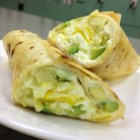 Avocado, Cream Cheese, and Egg Burrito - This egg burrito gets interesting when avocado and cream cheese are added to the mix for a quick and easy meal.