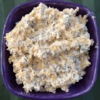 Beef Dip - A cold cracker spread made with cream cheese, sharp processed cheese spread, thin sliced beef and onion.