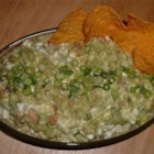 Daddy's Guacamole Dip - This is one of my dad's favorite recipes that he's handed down to my sisters and myself. It's a little different from traditional guacamole dip cause of the cottage cheese, but very delicious! Serve with chips or vegetables.