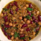 Moroccan Harira (Bean Soup) - Soups are ideal for fast-breaking during Ramadan. This Moroccan bean soup features lentils and garbanzo beans in an herb-seasoned beef stock.
