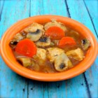 Chicken Vegetable Stew - Chicken stew with loads of onion, garlic, and mushrooms is a hearty and warming meal for cold evenings.