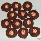 Chocolate Peppermint Balls - A simple yet rich chocolate cookie made from a boxed cake mix and peppermint flavoring.