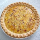 Country Quiche - A classic Quiche Lorraine with bacon, onions, eggs and cheese.