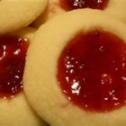 Rosenmunnar - Butter, sugar, flour and jam are all you need to make these Swedish thumbprint cookies.