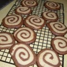 Chocolate Pinwheel Cookies - Half chocolate, half sugar cookies!