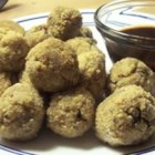 Sausage Sauerkraut Balls - A flavorful sausage and sauerkraut mixture is breaded and baked into delicious appetizer balls.