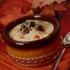 Quick Creamy Reuben Soup - Enjoy the corned beef, Swiss cheese, sauerkraut, and rye bread from a Reuben sandwich in this creamy Reuben soup.