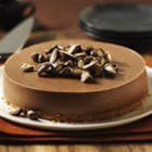Chocolate-Almond Cheesecake - Delicious cookie base, creamy chocolate cheesecake, crunchy chocolate-covered almonds - what a combo! This recipe is a perfect blend of sweet and creamy - a great cheesecake to try!