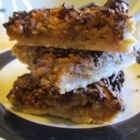 Pecan Turtle Pie Bars - This tasty treat is a creative mash-up of turtle candies and pecan pie.