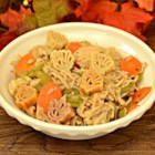 Homemade Turkey Soup - Homemade turkey soup with plenty of vegetables and pasta is a great way to use up leftover turkey from Thanksgiving.