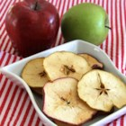 Perfect Apple Chips - Perfect for snacking on the go, these apple chips are soaked briefly in a lime mixture and sprinkled with sea salt.