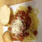 Ground Sausage Spaghetti - Quick and easy, this spaghetti with ground sausage and extra cheese is a great go-to recipe on a busy night.