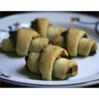 Sugar Free Rugelach - No artificial ingredients. Cream cheese pastry filled with raisins, nuts and cinnamon. Naturally sweet.