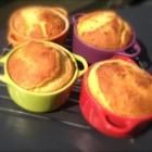 Gluten-Free Mini Cornbread Cocottes - Gluten-free cornbread is just as tasty and fluffy as traditional cornbread when cornmeal, rice flour, tapioca flour, and buckwheat flour are used in the batter.