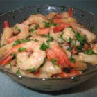 Caribbean Holiday Shrimp - Cooked shrimp marinated in ginger, lime juice, garlic, soy sauce and cilantro.