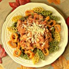 Italian Turkey Pasta Skillet - Here's another use for Thanksgiving turkey leftovers.