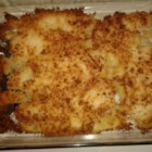 Baked Flounder with Panko and Parmesan - Golden brown bread crumbs and Parmesan cheese make a terrific crust for this simple baked flounder.