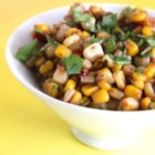 Corn and Roasted Red Pepper Salad - This sweet-and-sour corn salad makes a great accompaniment for any Tex-Mex meal.