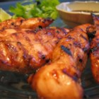 Easy Grilled Chicken Teriyaki - Chicken breasts marinated in teriyaki sauce, lemon, garlic, and sesame oil, then grilled to a tasty finish. Very easy and great for a hot summer's evening. Leftovers are great on a green salad or sandwich. Be sure to grill very hot and very fast!!