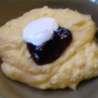 Morgan's Breakfast Polenta - Take a break from breakfast cereal with this creamy polenta, served hot topped with blackberry jam and a dollop of creme fraiche or sweetened sour cream.