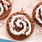 Peppermint Hot Cocoa Cookies - Chocolate, peppermint and marshmallow come together for a much more portable version of cocoa in these delightfully delicious holiday treats.