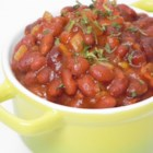 Spicy Baked Beans - This recipe for tangy and sweet old-fashioned baked beans with a little jalapeno is easy to make and perfect for a barbeque.