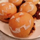 Pumpkin Sandwich Rolls - This recipe for soft sandwich rolls made with pumpkin are decorated using homemade stencils, making them a fun addition to your holiday cooking with the kids.