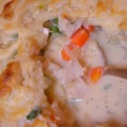 Chicken Pot Pie II - Fresh and frozen vegetables cook up with chicken in a buttery sauce for a hearty one dish meal.
