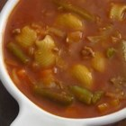 Hamburger Vegetable Soup - A quick, easy soup made with everyday ingredients.  It's ready in a flash!