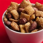 Spiced Nuts Chex(TM) Party Mix - This year, microwave your traditional spiced holiday nuts with the addition of crunchy Chex cereal in minutes. Makes gift-giving super-easy.