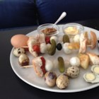 (Quail) Egg Salad Sandwiches on a Stick - What's better than an egg salad sandwich? Quail egg salad on a stick, that's what! Make this kid-pleasing recipe for fun or as a party appetizer.