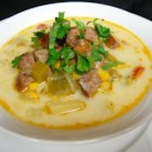 Andouille Sausage and Corn Chowder - This is a slightly spicy, smoky, hearty corn chowder thanks to the addition of the andouille sausage and cayenne pepper.