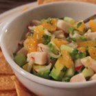 "Mahi Mahi Ceviche  - Mahi mahi is ""cooked"" in a citrus marinade and mixed with orange, radish, cucumber, and cilantro in Chef John's recipe for mahi mahi ceviche."