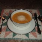 Simple Sweet Potato Soup - This delicious soup has only 6 ingredients.  It was given to me by my boyfriend's mom who adapted it from another recipe.  It can be as thick or thin as you like, and I like it quite thick. It freezes exceptionally well.