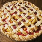 Raspberry-Peach Pie - Frozen peaches and raspberries makes this pie a year-round treat. Use ripe fruit during the summer months for an even fresher taste.