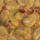 Pressure Cooker Butter Beans with Beer and Bacon - Butter beans cooked with beer and topped with bacon are cooked in the pressure cooker producing a hearty side dish.
