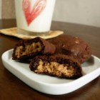 Magic Peanut Butter Middles - Chocolate cookie with a surprise peanut butter center.