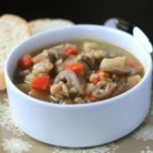 Dad's Mushroom and Barley Soup - This recipe for hearty mushroom and barley soup has been handed down through generations.