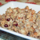 Cranberry Nut Stuffing - A tangy twist on standard sage dressing. I stuff my bird and bake the rest in a casserole or slow cooker.