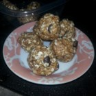 No-Bake Energy Bites - Oats, flax seed, peanut butter, and chocolate chips are mixed together into compact, energy bites for on-the-go snacking.