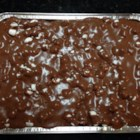 Heavenly Hash Cake - This quick and easy recipe makes a nutty chocolate cake with marshmallows and pecans.