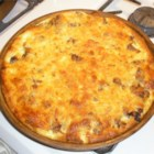 Sausage Brunch Casserole - This yummy sausage, cheese and egg bake will warm you up when it's cold and fill you up when you're hungry!